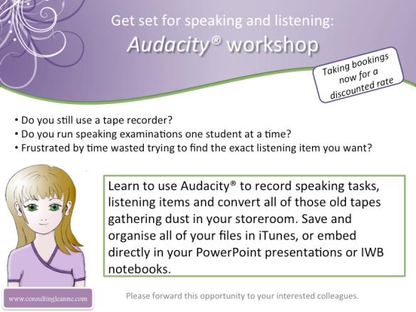 Audacity workshop announced
